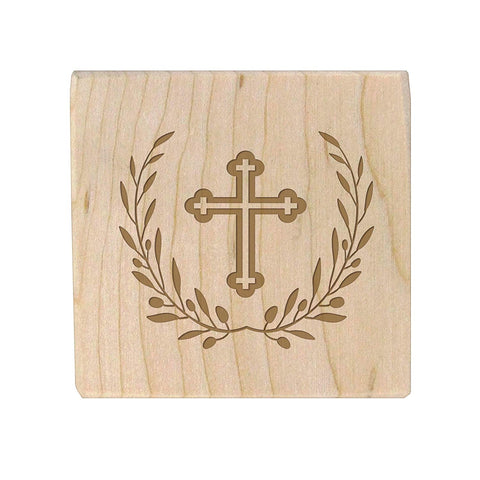 "Baptism Christening baby dedication and first holy communion Gifts for boys and Girls Personalized wooden block engraved May God Bless You 2.5"" x 2.5"" by LifeSong Milestones"