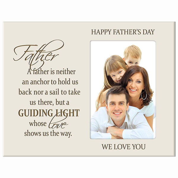 Personalized Happy Father's Day Photo Frame - Father, a Guiding Light
