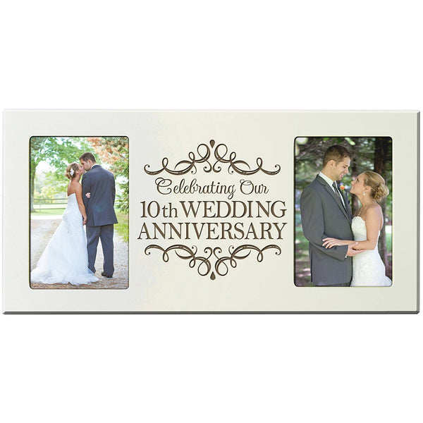 10th Wedding Anniversary 4x6 Picture Frame