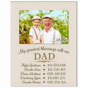 Personalized Gift For Dad Picture Frame - My Greatest Blessings