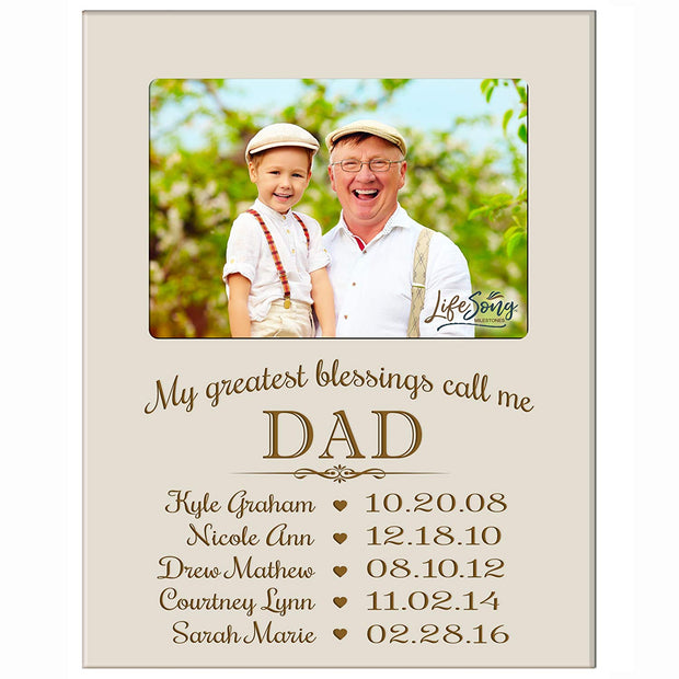 Personalized Gift For Dad Picture Frame - Dad Ivory