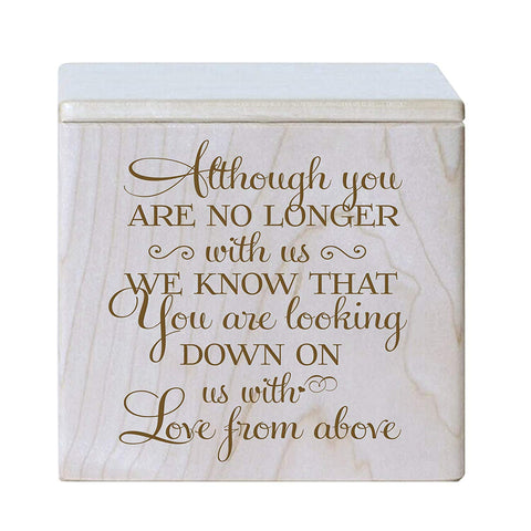 Cremation Urns for Human ashes - Funeral Urn small Keepsake box for Pets - Memorial Gift for home or Niche Columbarium Although you are no longer with us by LifeSong Milestones (Maple)