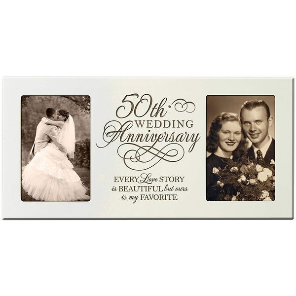 LifeSong Milestones Every Love Story Is Beautiful but Ours Is My Favorite 50th Wedding Anniversary for Couple Picture Frame (Black)