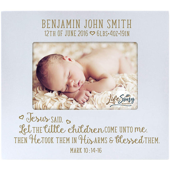 Personalized New Baby Photo Frame - Jesus Said