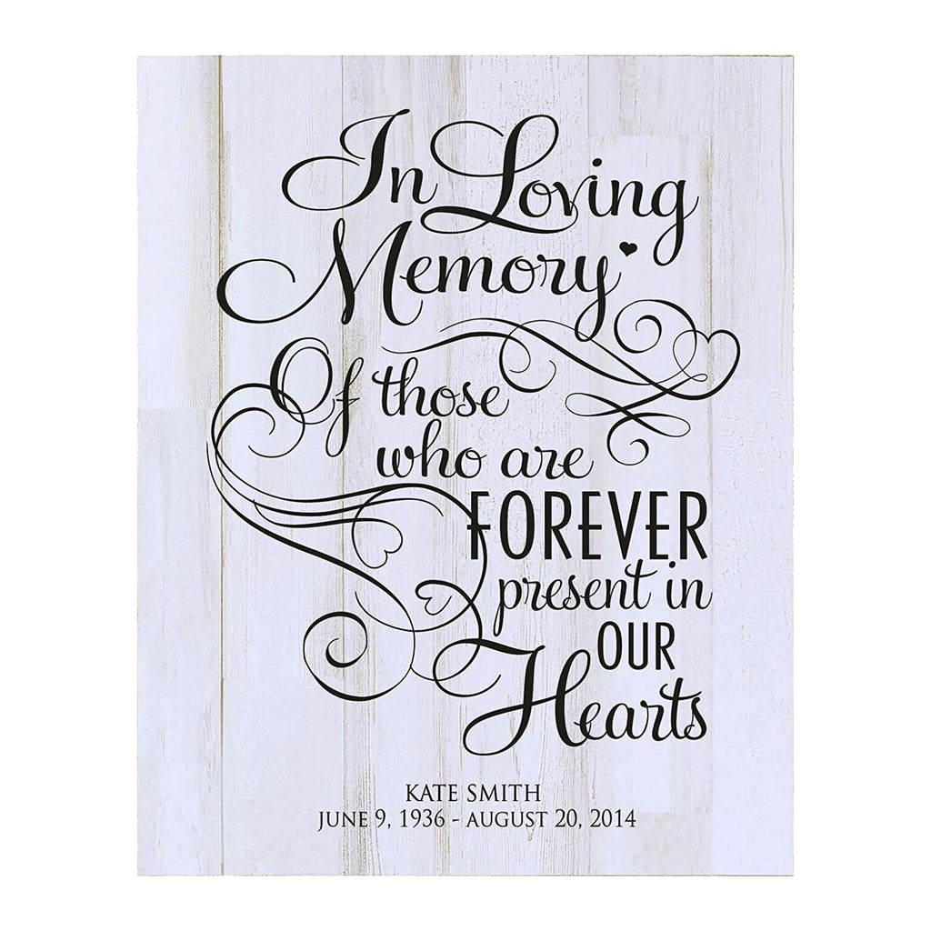 ... Memorial Sympathy gift ideas wall plaque In Loving Memory size 12 x 15 ...