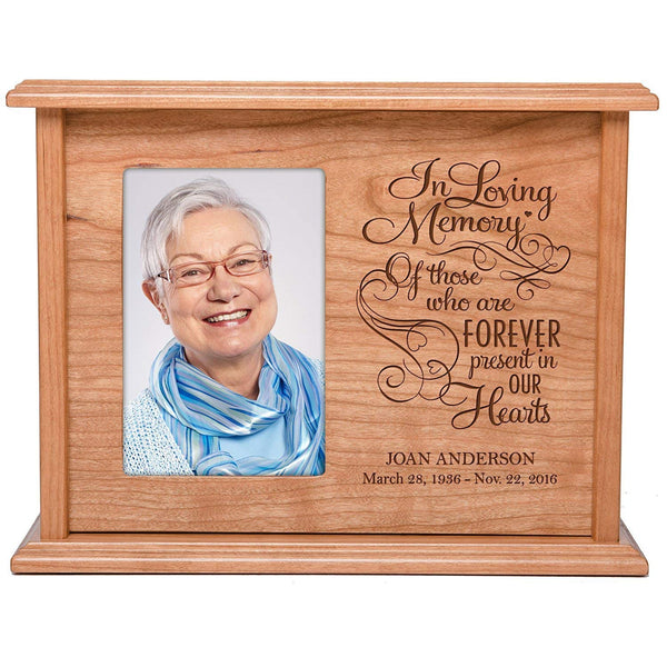 Cremation Urns for Human Ashes Memorial Keepsake box for cremains, personalized Urn for adults and children ashes In Loving Memory Of those... SMALL portion of ashes holds 4x6 photo holds