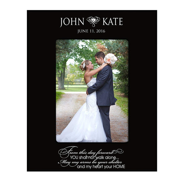 "Wedding Photo Frame "" From This Day Forward "" Holds 4x6 Photo"