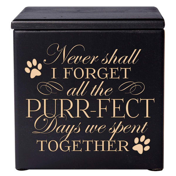 Cremation Urns for Pets Memorial Keepsake box for Dogs and Cats, Urn for pet ashes Never Shall I forget all of the Purr-fect Days we spent Together by LifeSong Milestones