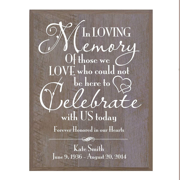 Memorial wall plaque Those We Love Who size 12 x 15