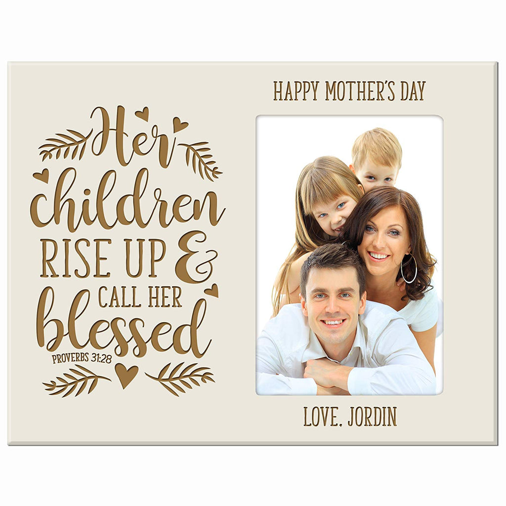Personalized Mother\'s day picture frame Gifts Custom engraved Photo ...