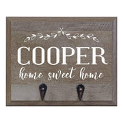 "Barn Wood Personalized Coat Rack Wall Sign 15"" w x 12"" h 4.25"" deep"