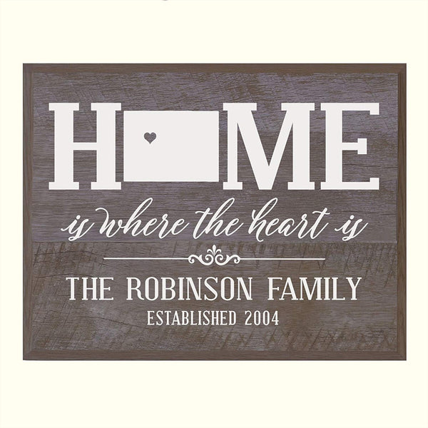 LifeSong Milestones Personalized Colorado State Home is Where the heart is Wall Plaque Sign