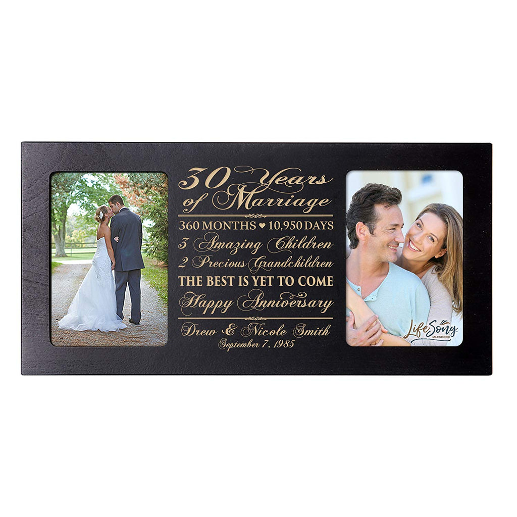 30 Years Wedding Anniversary Gifts.Personalized 30th Year Anniversary Double Photo Frame
