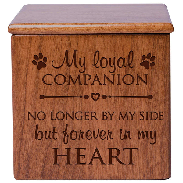 Engraved Cremation Urn/Memorial Keepsake Box for Pets – In Loving Memory