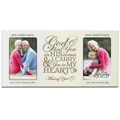 Personalized Memorial Double Picture Frame