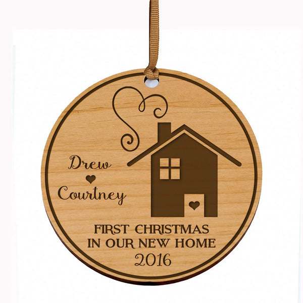 LifeSong Milestones Personalized Our First New Home Christmas Holiday Gift Ornament Custom Housewarming gift ideas for couple him her by