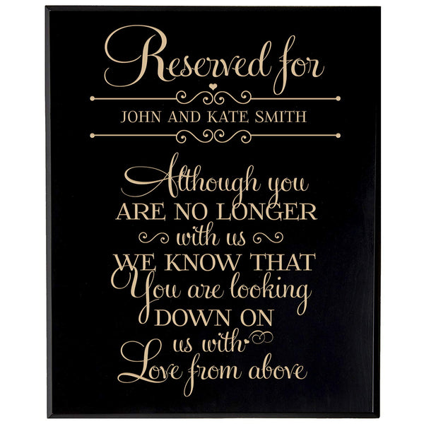 Personalized Wedding Memorial Wall Plaque - No Longer With Us