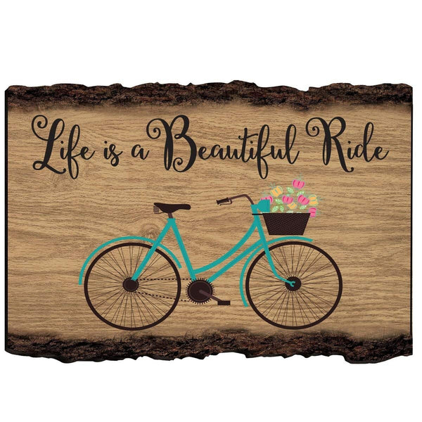 "Bicycle Wall Art Decor Print quote for husband wife best friend son daughter Birthday gift ideas 6"" x 6"" Wall Plaque By LifeSong Milestones"