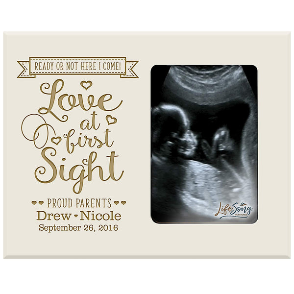 Personalized Baby Sonogram Photo Frame - Love At First Sight