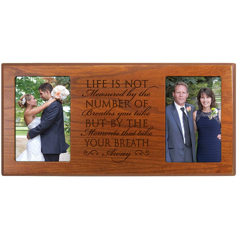Personalized Wedding Photo Frame - Life Is Not Measured By the Number of Breaths You Take (16x8)