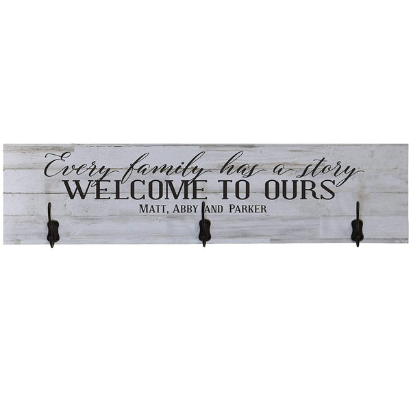 Personalized Every Family Has a Story Coat Rack Wall Sign