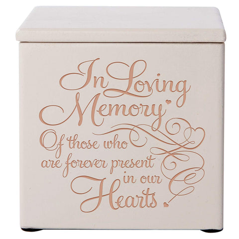 Cremation Urns for Human ashes -SMALL Funeral Urn small Keepsake box - Memorial Gift for home or Columbarium Niche In Loving Memory of those who- Holds SMALL portion of ashes