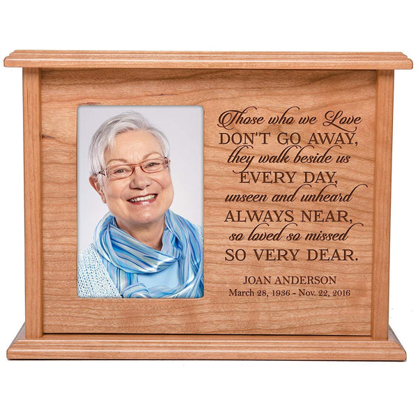 Engraved Cremation Urn for Human Ashes - Those Who We Love Don't Go Away