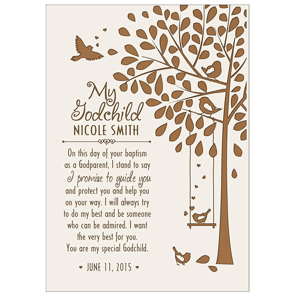 Personalized 1st holy communion Baptism Godchild Plaque Gift