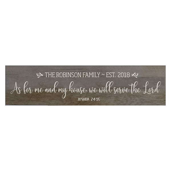 As For Me and My Home Wooden Wall Sign Art Size 10 x 40