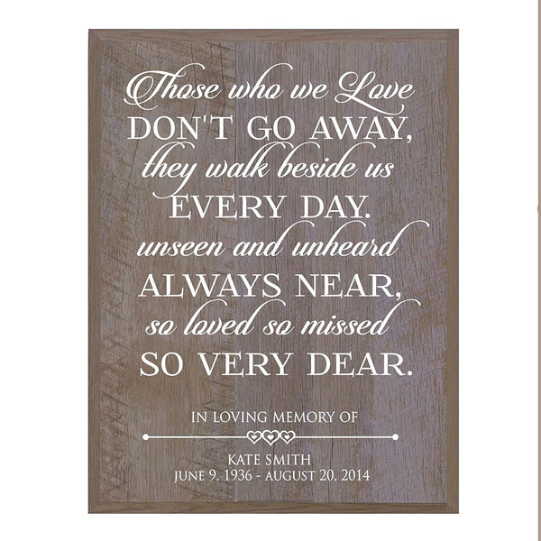 Memorial Wall plaque Those We Love Don't Go Away 12 x 15