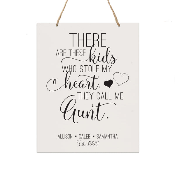 Personalized Mothers Day Gift Wall Hanging Sign - These Kids 12x15