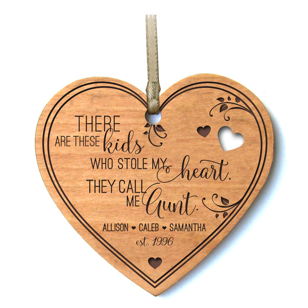 Personalized Mother's Day Heart Ornament Gift - These Kids