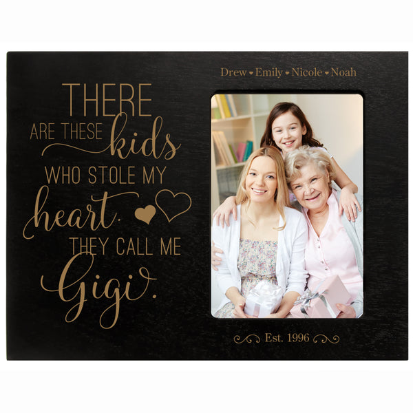 "Personalized Mother's Day Frame Holds 4"" x 6"" Photo These Kids Gigi"
