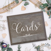 """Cards"" Decorative 8x10 Wedding Signs for Ceremony & Reception"