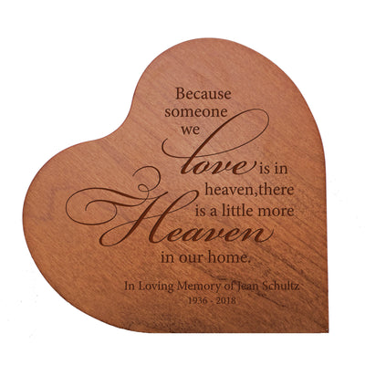 "Personalized Engraved Memorial Heart Block 5"" x 5.25"" x 0.75"""