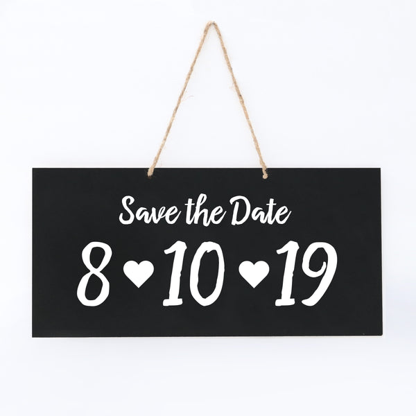 Personalized Wedding Rope Sign - Save The Date