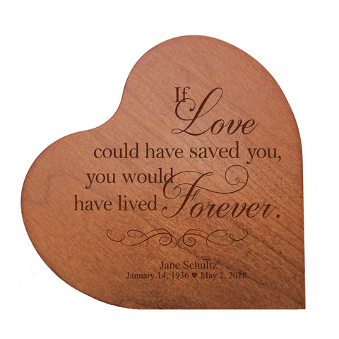 Personalized Heart Urn for Human Ashes holds 14 cu in Because Someone