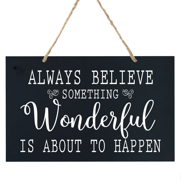 Anniversary Wooden Wedding Ceremony Sign Gift - Always Believe