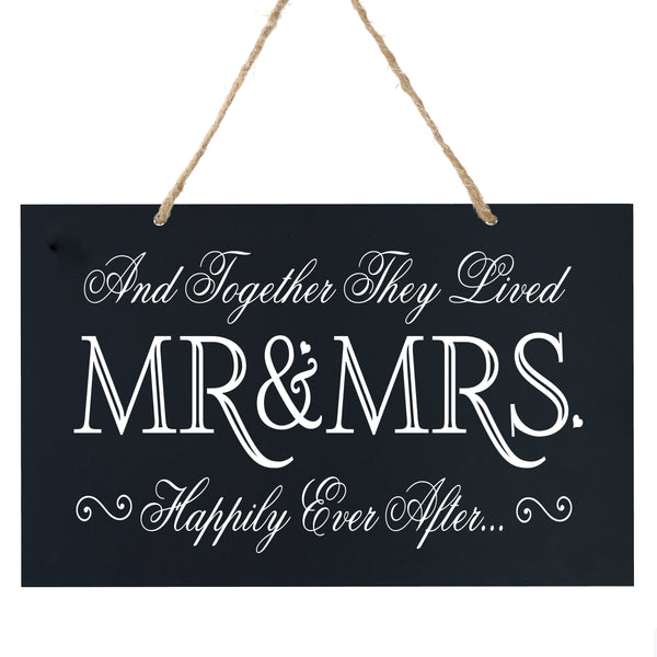 Anniversary Wooden Wedding Ceremony Sign Gift - Mr & Mrs