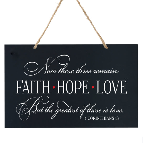 Anniversary Wooden Wedding Ceremony Sign Gift - Faith Hope Love