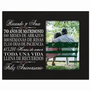 LifeSong Milestones Personalized Anniversary Picture Frame Marriage Keepsake Gift with Spanish Verse - Wedding Keepsake Gift for Parents Husband Wife Him Her Holds 8x10 Photo
