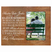 LifeSong Milestones Anniversary Picture Frame Marriage Keepsake Gift with Spanish Verse - Wedding Keepsake Gift for Parents Husband Wife Him Her Holds 8x10 Photo
