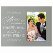 LifeSong Milestones 8x10 Picture Frame with Spanish Verse Made of Solid Wood for Wedding Anniversary or Engagement Gift for Couple Tabletop or Wall Mounting