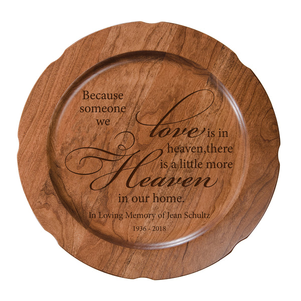 LifeSong Milestones Personalized Memorial Decorative In Loving Memory Bereavement Plate - Condolence Sympathy Gift For Loss of Loved One 12""