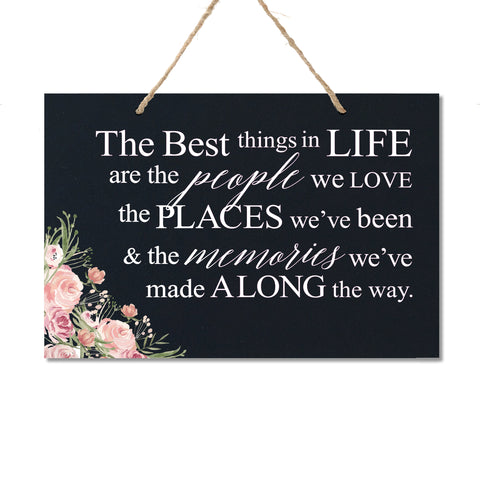 Housewarming Wall Hanging Sign Gift - The Best Things