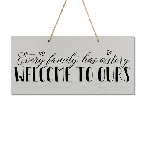 "Housewarming Wall Hanging Sign Gift - for New Homeowners, Family Home Decor 5.75"" x 11.875"" x 0.13"""