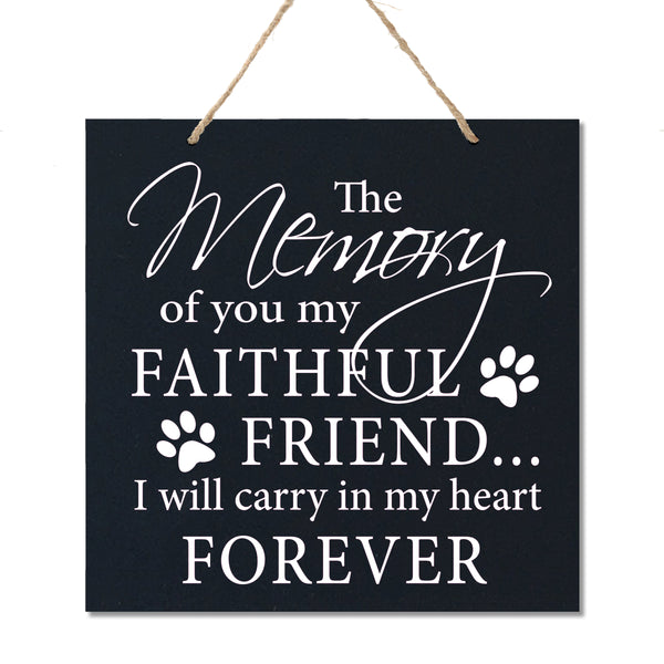 Memorial Hanging Rope Signs for Pets - Gift Ideas - The Memory