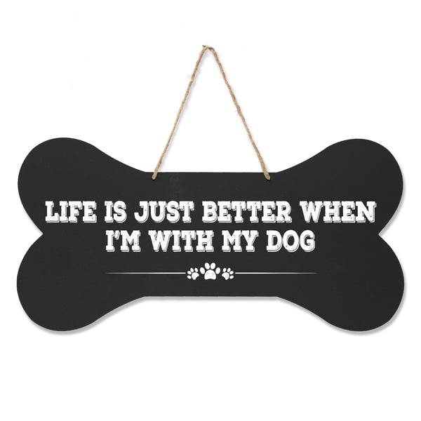 LifeSong Milestones Dog Lovers Bone Sign - Life Is Just Better