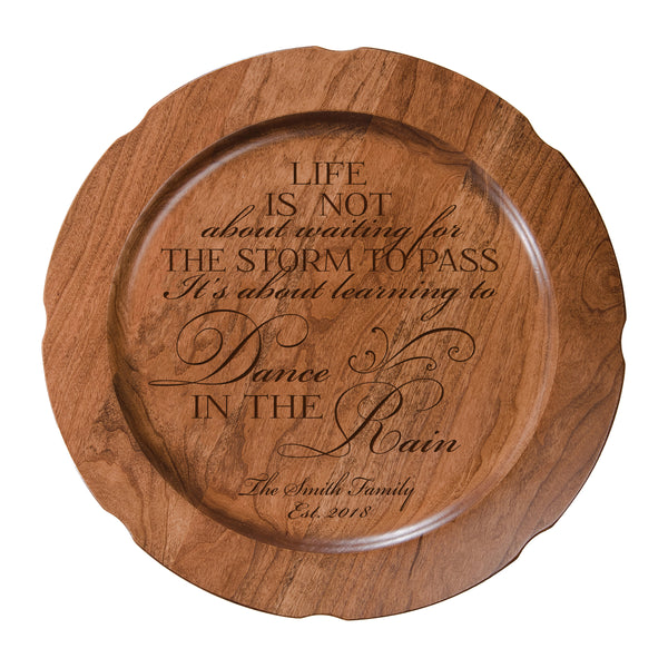 Lifesong Milestones Personalized Wedding Anniversary Decorative Plate With Everyday Home Inspiration - Quotes Poems Verse Scripture Gift Ideas for New Home Owner 12""