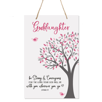 "LifeSong Milestones First Holy Communion gifts for Baptism,Christening Baby dedication for Goddaughter Godchild Daughter Teenagers and Baby Girls Wall hanging sign 8""x 12"""